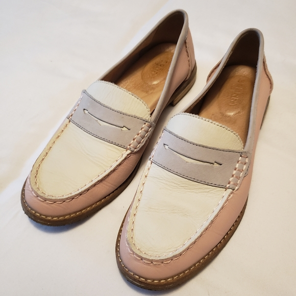 Sperry's White & Pink Loafer Women 7.5